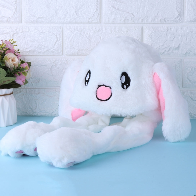 Novelty Magic Rabbit Hat With Moving Ear Plush Toy Gift Kids Toy Party Photo