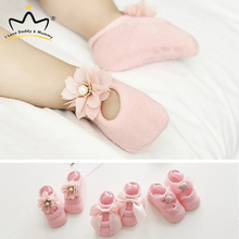 3 Pairs/set Newborn Baby Shoes Lace Flower Bowknot