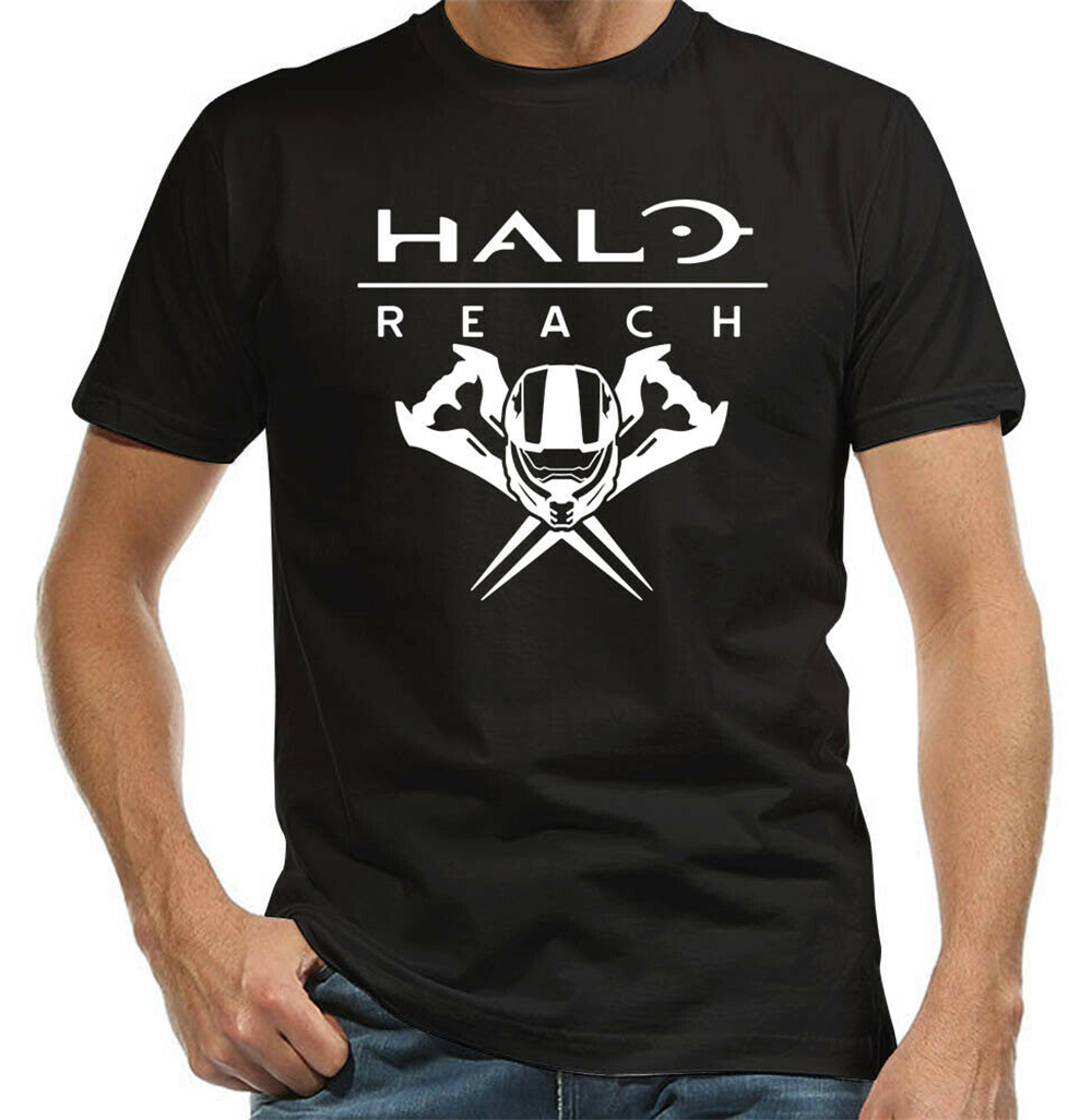 Halo Reach The Master Has Arrived Video Game Black T Shirt Men Women Grey Men's S-3XL Tee Shirt Streetwear Casual image