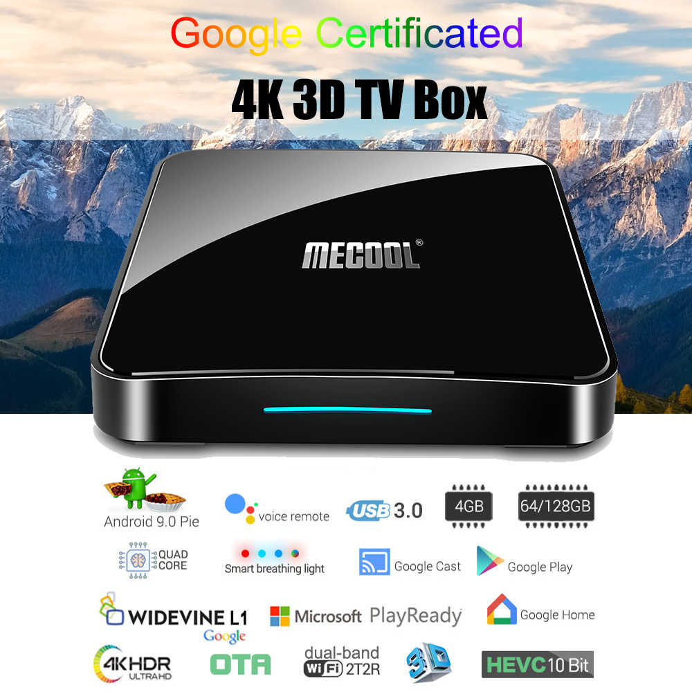 KM3 3D TV Box Android TV Google certifié Android 9.0 TV Box 4GB 128GB Amlogic 4K double Wifi décodeur KM9 Pro 2/16 4/32G M8s
