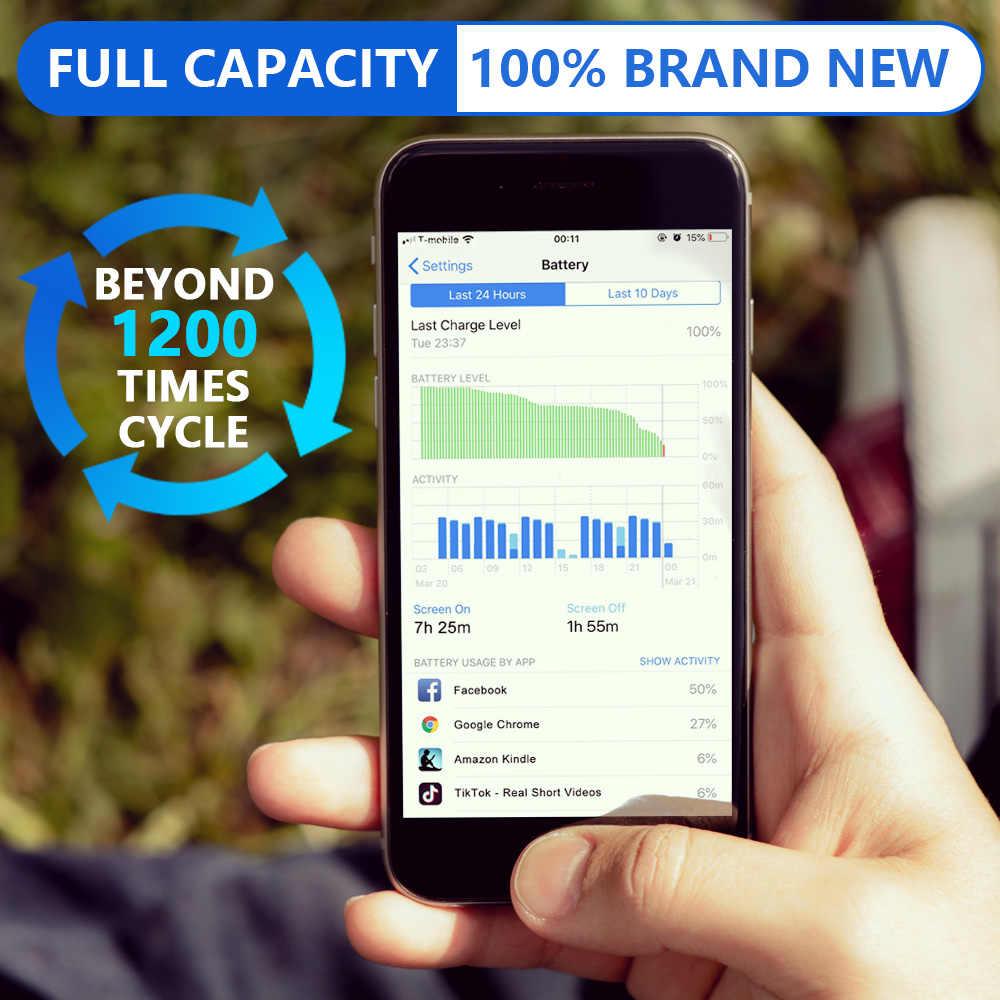 Batería de litio Original de Leoleo para iPhone 6 6s Plus 7 Bateria de teléfono interna 5S para iPhone 6Plus baterías de repuesto + herramientas