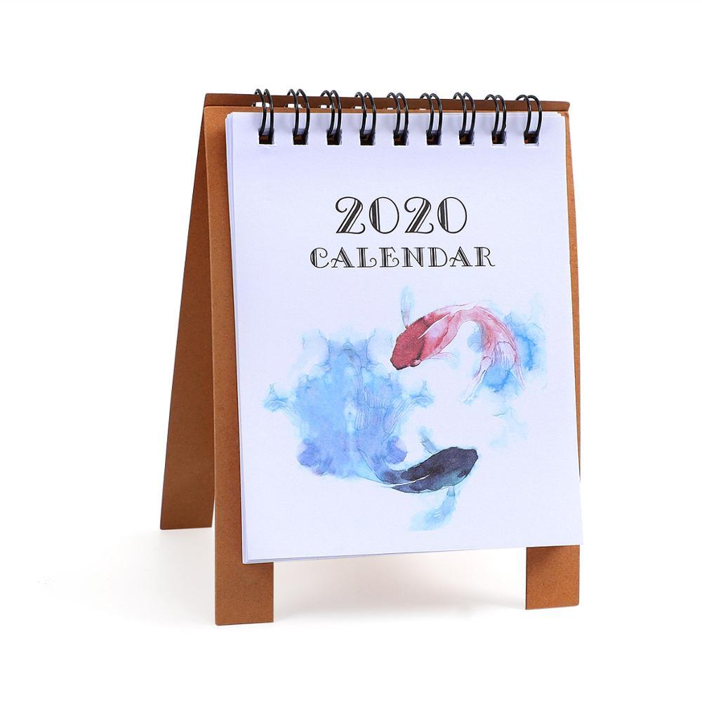 JIANWU милые Мультяшные животные настольный мини-календарь, школьный офис, кавайный планировщик, Настольный календарь - Цвет: yu