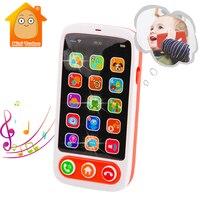 Bambini che imparano i giocattoli giocattolo del telefono cellulare del bambino macchina inglese con il Babyphone musicale leggero giocattoli educativi dei bambini telefono dei bambini