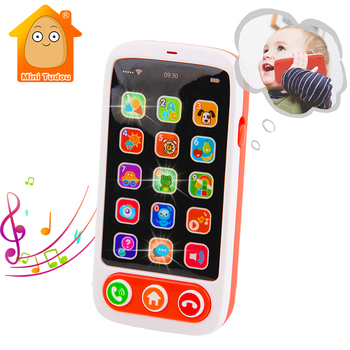 Kids Learning Toys Baby Mobile Phone Toy English Machine With Light Musical Babyphone Children Educational Toys Babies Telephone