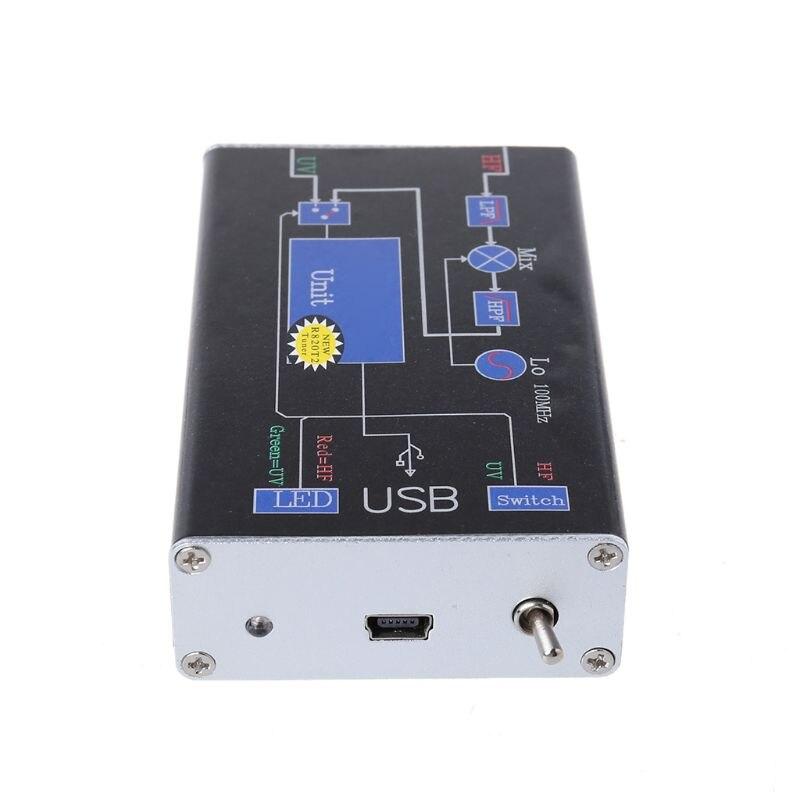 1Set 100KHz-1.7GHz VHF UHF Full Band RTL.SDR+UpConverter SDR USB Tuner Receiver Q39D