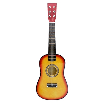 23 Inch 6-String Small Mini Guitar Basswood Guitar with Pick Strings Musical Instruments Toy for Children Kids Gift acoustic custom guitar 41 inch full size 6 string basswood with guitar kit from us
