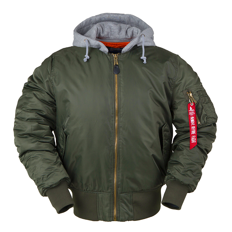 2019 aw winter bomber flight jacket MA-1 with hood streetwear clothes mens clothing hip hop baseball lettermanoversized varsity