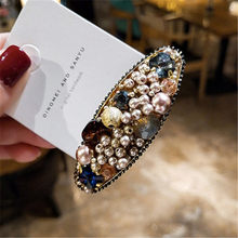 New 9 Styles Fashion Pearl Hair Clip for Women Elegant Korean Design Metal Clips Hairpin Styling Accessories