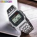 Цифровые часы SYNOKE для мужчин  светодиодные часы G  винтажные квадратные водонепроницаемые часы  подарок для мужчин  электронные золотые час...
