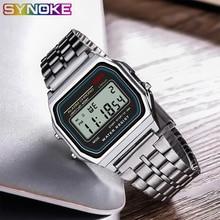 SYNOKE Men's Digital Watches LED G Ladies Watch Vintage Squa