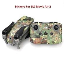 Colorful Drone Stickers for DJI Mavic Air 2 Decal Skin Sticker Drone Body Remote Controller 4