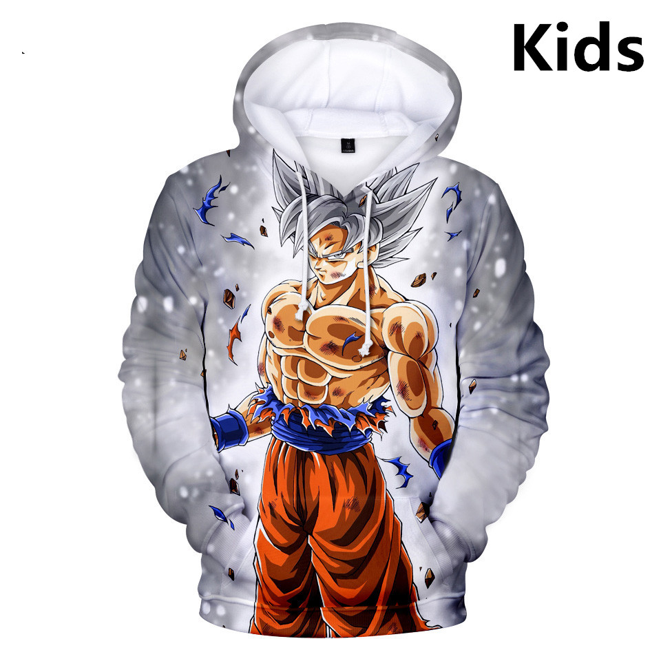 2 To 13 Years Kids Hoodies Dragon Ball Son Goku 3d Printed Hoodie Sweatshirt Boys Girls Dragonball Harajuku Jacket Child Clothes