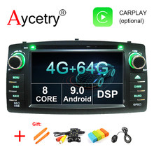 For Toyota Corolla E120 BYD F3 android 9.0 2 din 4G 64G 8 CORE Car radio DVD player Multimedia GPS Navigation obd2 wifi dvr DSP(China)