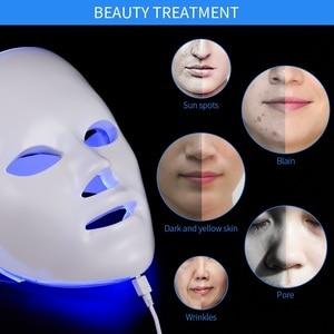 Image 4 - 7 Colors Light LED Facial Mask Skin Rejuvenation LED Mask Phototherapy Face Care Beauty Anti Acne Whitening Wrinkle Removal Mask