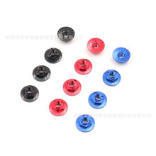 RC Anti-True Model Car M4 Anti-Loose Flange CNC Aluminium Alloy Hexagon Nut M4 Anti-slip Nut(China)