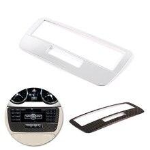 Para mercedes benz glk x204 2013 2014 acessórios do carro console central modo de voz painel quadro capa abs chrome decoração