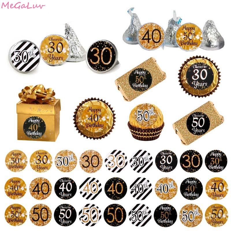 Sceau autocollant joyeux anniversaire 18/30e pièces   Étiquette cadeau, pour fête prénatale anniversaire âgé de 40 à 50 ans, fournitures de fête prénatale