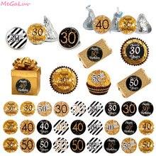 Autocollants en papier joyeux anniversaire 18/30e, 108 pièces, scellage, cadeaux pour fête, événement, fournitures pour fête prénatale