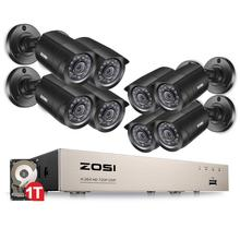 ZOSI sistema de cámaras de seguridad para el hogar, dispositivo de videovigilancia DVR TVI con HDMI 1080N, 8 Uds., 720P/1.0MP, para exteriores