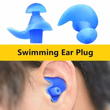 1Pair Soft Swimming Ear Plugs Environmental Silicone Waterproof Dust-Proof Earplugs Diving Water Spo