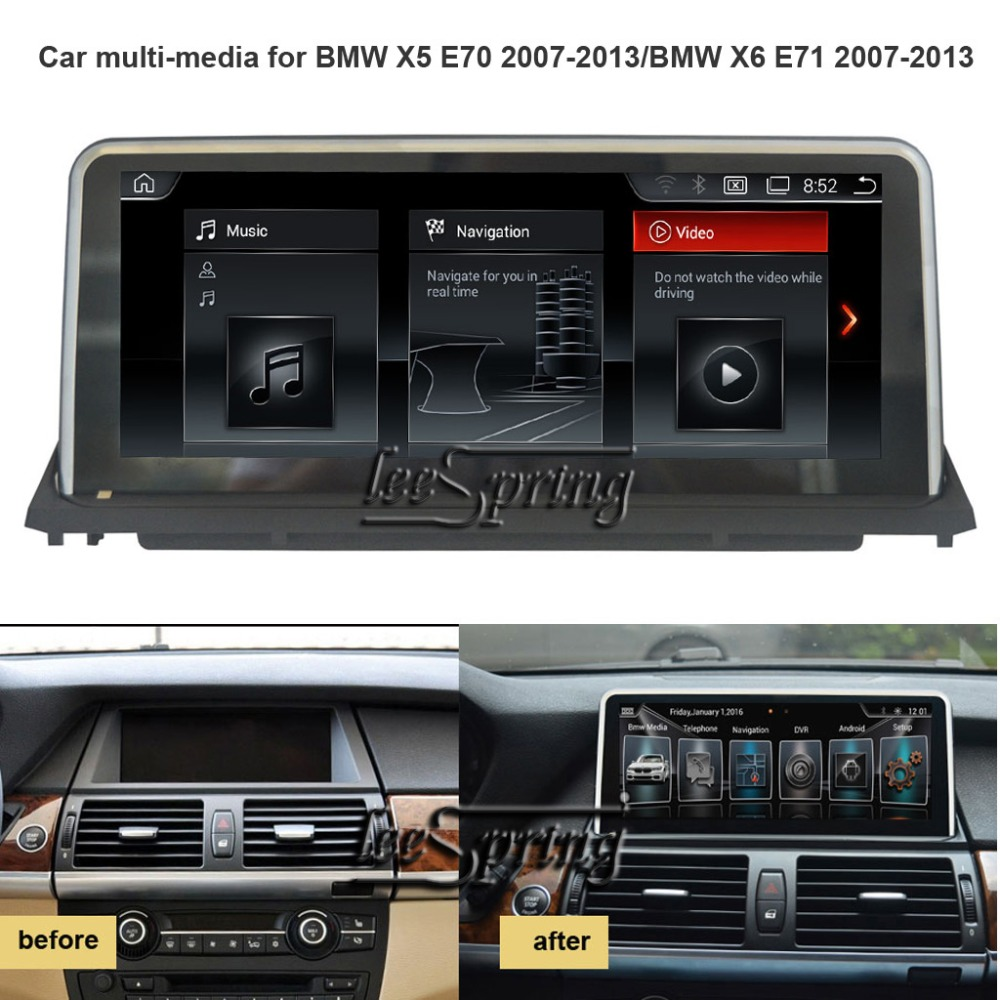 <font><b>10.25</b></font> inch Car Multimedia Player for <font><b>BMW</b></font> X5 <font><b>E70</b></font> 2007-2013/<font><b>BMW</b></font> X6 E71 2007-2013 with GPS Navigation Android 6.0/ 2+16G image