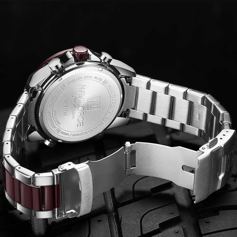 Naviforce homens relógio digital led esporte militar dos homens de quartzo relógio de pulso masculino luminoso à prova dwaterproof água relógios relogio masculino