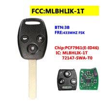 MLBHLIK-1T 3BTN дистанционного ключа для Honda 433 МГц