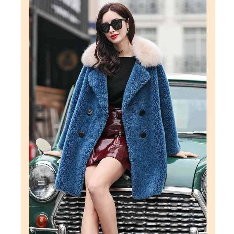 Women Long  Faux Fur Coat Women Winter Fluffy Overcoat