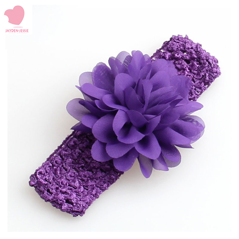 NEW Girls Lace Headband Chiffon Flower Headband Hair Weave Band Kids Hair Accessories Christmas Gifts 16color Stock
