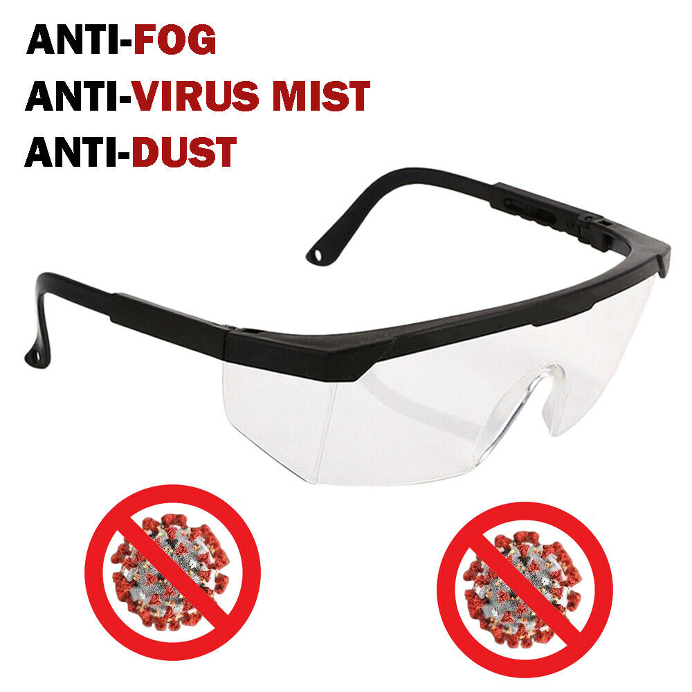 Anti  Safety Goggles Adjustable Leg Protective Eye Glasses Work Lab Anti Fog Clear Lens Anti-droplets Goggles
