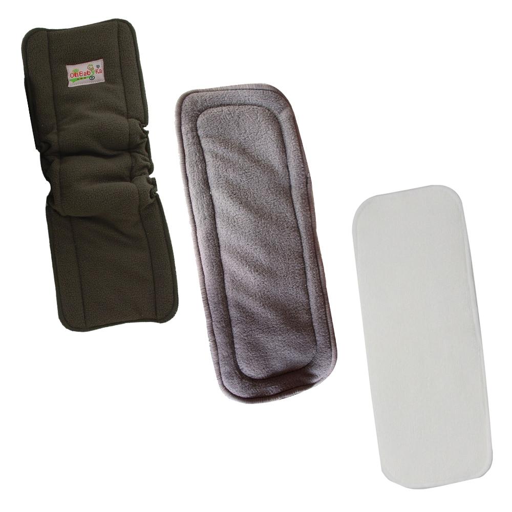 Ohbabyka 1 piezas. Insertos de carbón de bambú reutilizables para pañales de tela de bebé 10 juegos/lote 6,3 macho cuadrado insertado terminal con DJ7021-6.3-11 de plástico