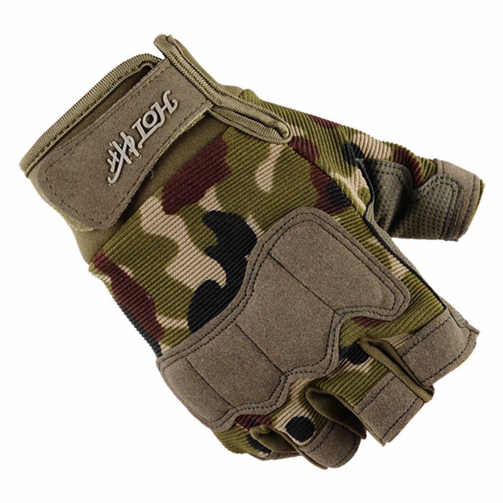 寝台 # P501 2019 ファッションユニセックスハーフフィンガー手袋戦術的な屋外スポーツ登山乗り Luvas перчатки 冬暖かいギフト