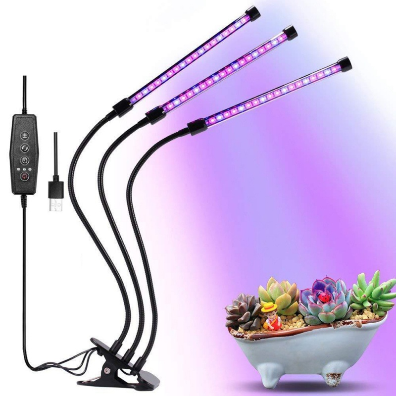 Flower Potted Planting Fill Light High Quality Practical USB Plant Growth Light Smart Clip Light|LED Grow Lights| |  - title=