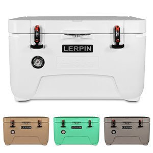 Wholesale 50qt Rotomolded Food Grade LLDPE  Ice Cooler Box From LERPIN Factory