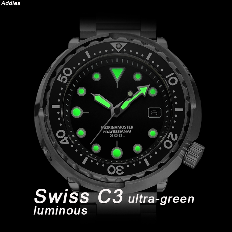 NH35 Mechanical Wristwatch 300m Dive Watch Mechanical Steel Stainless Case Sapphire Glass Automatic Watch Steel Diving - 4