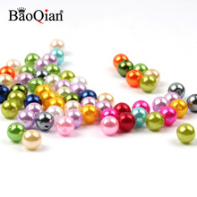 Imitation-Pearl Charm-Spacer Decoration Loose-Beads Acrylic Crafts Jewelry-Making Round