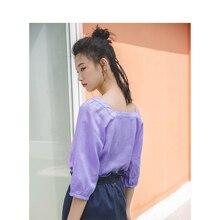 Женская блузка в стиле ретро с квадратным вырезом и рукавом три четверти