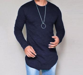 2020 spring O-Neck new style long sleeve cotton T-shirt grey white An