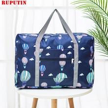 New Folding Clothes Sorting Bag Luggage Storage Organizer Folding Bags Shopping Shoulder Bag Travel Accessories Women Makeup Bag