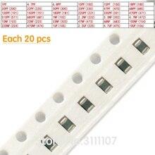 720PCS/LOT 0805 SMD 1PF~10UF  2012 Ceramic Capacitor Assorted kit ,36values*20pcs=720pcs Samples Kit Electronic Diy Kit