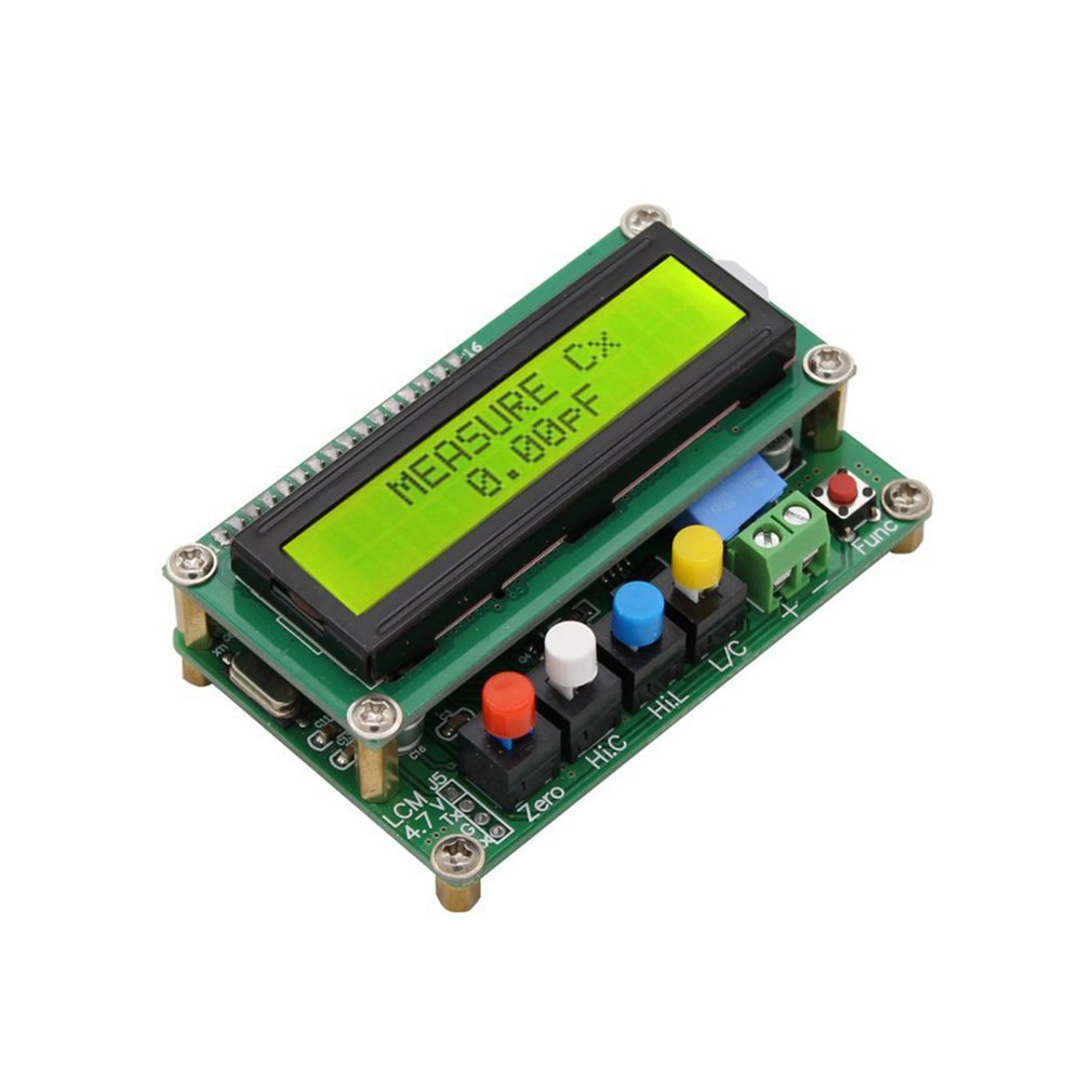 LC100A Digital LCD Capacitance LC Meter Inductive Inductance Tester Inductor Capacitor Table 1pF-100mF 1uH-100H