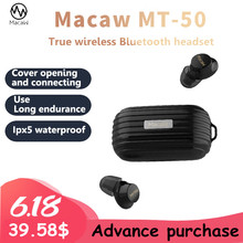 цена Macaw MT50 Mini 5.0 Wireless Bluetooth Earphone TWS HIFI Sports Running Headset with Mic Earbuds Stereo Sound Earphones онлайн в 2017 году