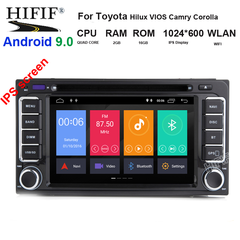 <font><b>2</b></font> <font><b>din</b></font> 6.95 inch <font><b>200</b></font>*<font><b>100</b></font> Car DVD player GPS+BT+Radio+Touch Screen+car pc+aduio+Stereo+Video For Toyota Hilux VIOS Camry Corolla image