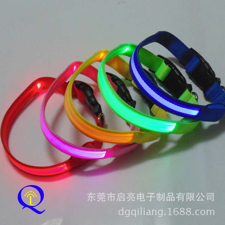 Export Europe And America/LED Super Bright Shiny Dog Collar/LED Pet Collar/Nylon Pet Collar
