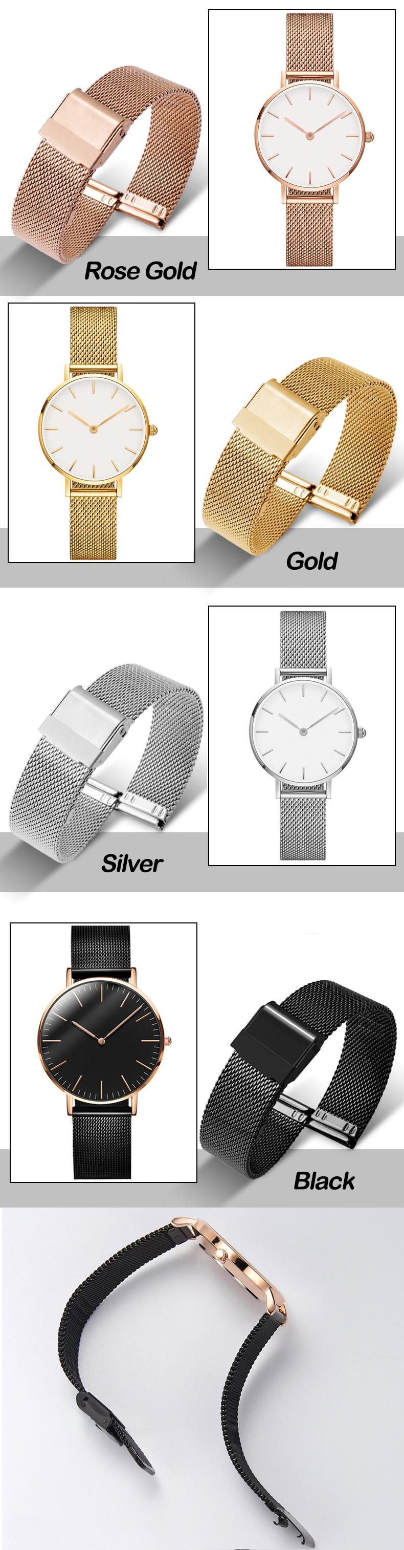 Steel mesh watch band (10-22 mm)