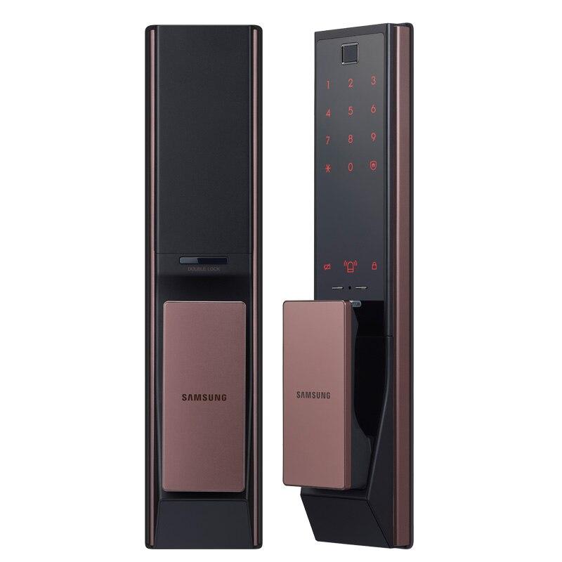 English Version SAMSUNG SHP-DP738 Push Pull Digital Fingerprint Bluetooth Door Lock Keyless