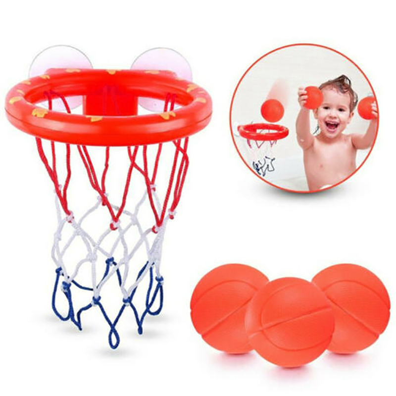Image 3 - Safe Original Kids Funny Bath Toys Plastic Bathtub Shooting Game Toy Set Basketball Suctions Cups Mini With Hoop Balls Children-in Bath Toy from Toys & Hobbies
