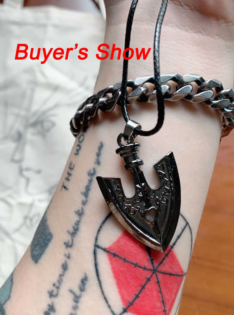 Anime Bizarre Adventure STAND Insect Arrow Pendant Necklace Jewelry Cosplay Props Accessories Cartoon Christmas Girls Boys Gifts