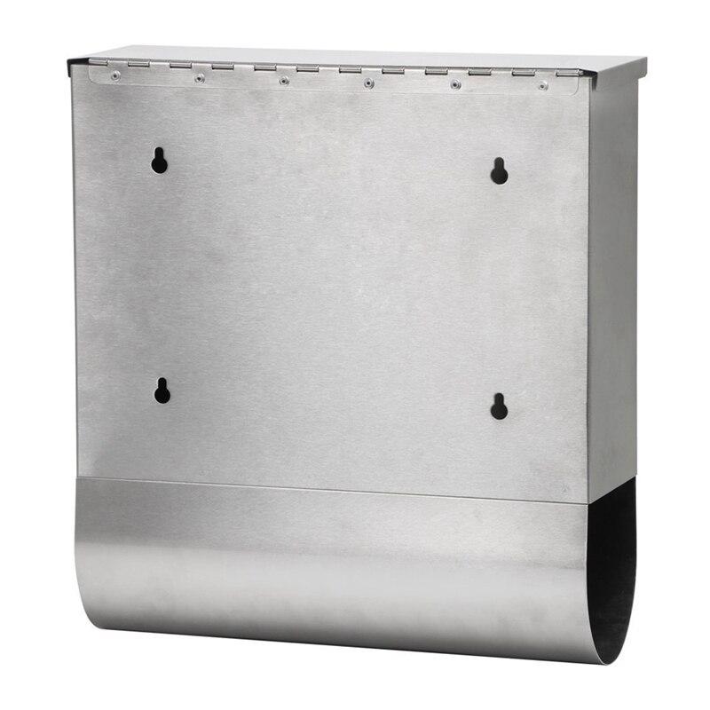 Горячая продажа водонепроницаемый запирающийся почтовый ящик из нержавеющей стали держатель для газет открытый почтовый ящик - 3