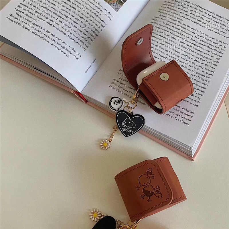 Чехол Peanut Dog Для Apple Airpods 2 Чехол кожаный защитный чехол для Apple Air Pods для наушников Роскошный футляр для наушников Аксессуары F0
